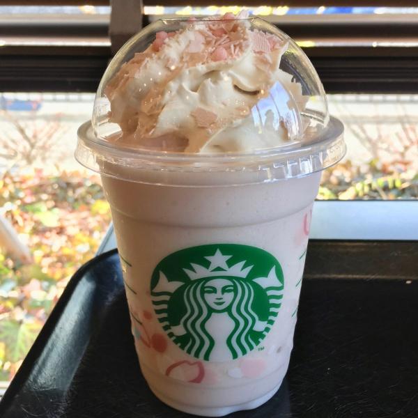 sakura blossom cream frappuccino