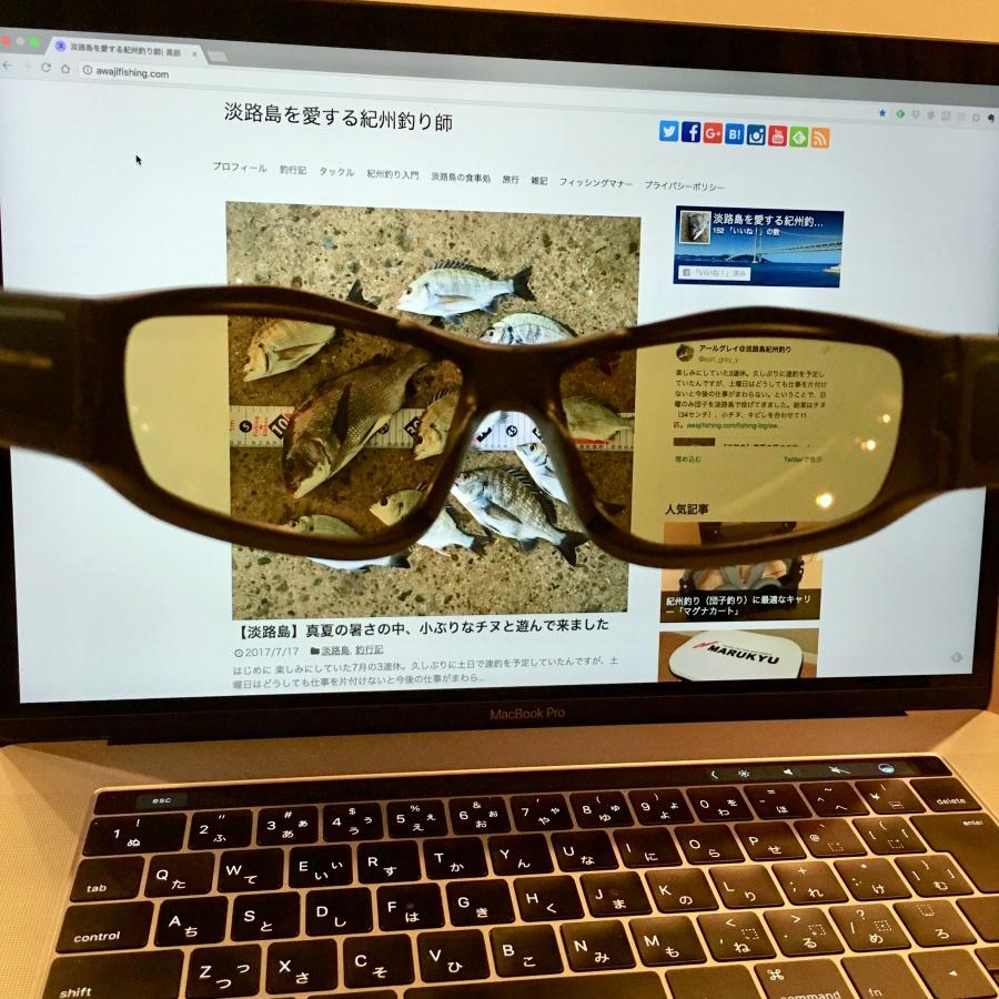 紀州釣り用の偏光サングラス