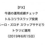 【FX】今週の運用成績チェック(トルコリラスワップ投資、ユーロ・ズロチ スワップサヤどり、トラリピ運用)2019年6月15日