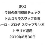 【FX】今週の運用成績チェック(トルコリラスワップ投資、ユーロ・ズロチ スワップサヤどり、トラリピ運用)2019年6月30日