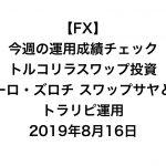 【FX】今週の運用成績チェック(トルコリラスワップ投資、ユーロ・ズロチ スワップサヤどり、トラリピ運用)2019年8月16日