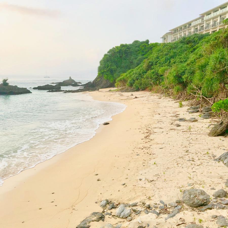 ハレクラニ沖縄のプライベートビーチ