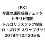 【FX】今週の運用成績チェック(トラリピ運用、トルコリラスワップ投資、ユーロ・ズロチ スワップサヤどり)2019年12月20日版